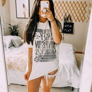 Harley Davidson oversized hipster graphic tee